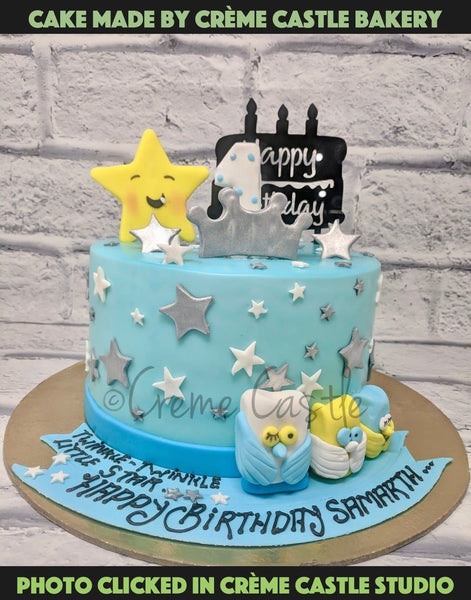 A cake brimming with rich flavours of chocolate decorated with stars, ribbons. Gift this cake to your little ones for a delightful experience