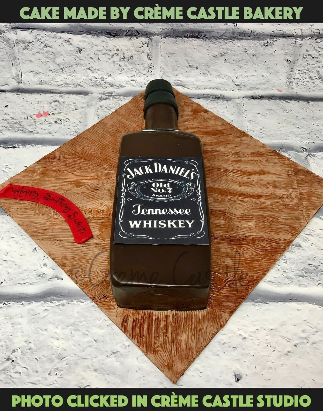 Jack Daniels Bottle Cake - cremecastle