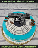 A cake for someone who like to do target shooting and is an excellent one.