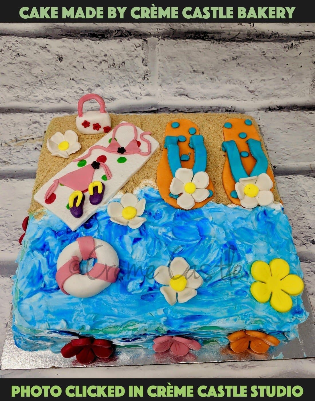 Beach Lover Cake - cremecastle