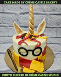 Harry Potter and Unicorn Cake - cremecastle