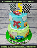 Cars, Planes and Clouds Cake - cremecastle