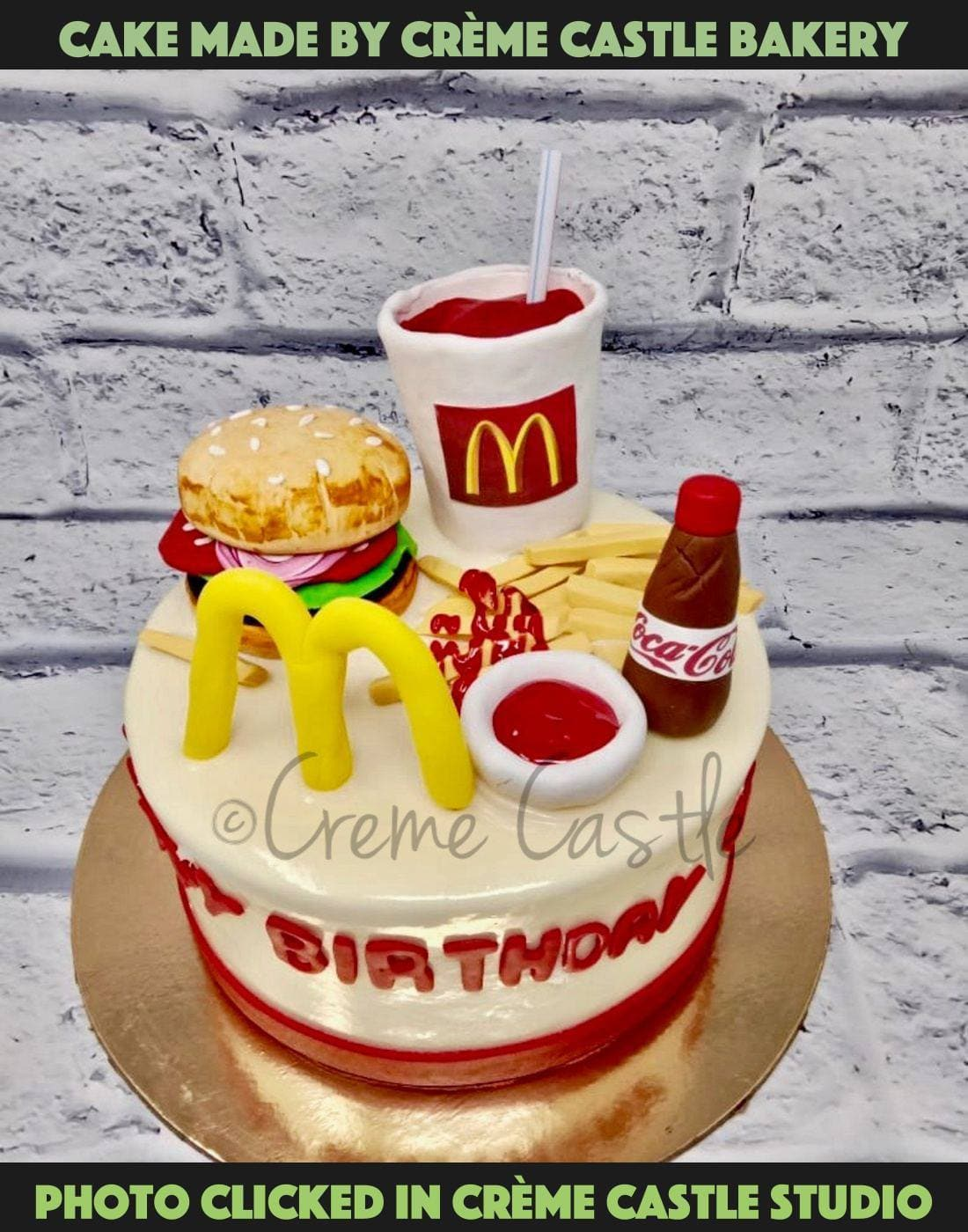 Mc Donalds Lover Cake - cremecastle