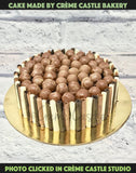 Chocolate Cigar And Truffles Cake - cremecastle