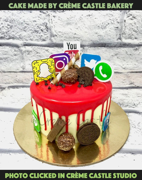A Cake For A Person Who Rocks On Social Media With Their Jazzy Profile And Exquisite Lifestyle