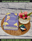 Book And Tea Lover Cake - cremecastle