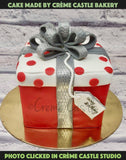 Gift Box Cake - cremecastle