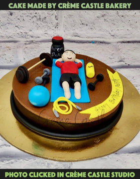 Fitness Theme Cake - cremecastle