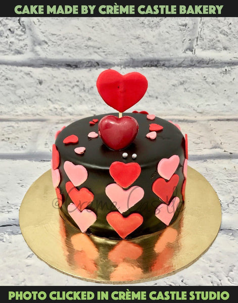 Heart Shaped Cake That Is So Cute That It Will Met Your Partners Heart. Pefect Gift!