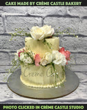 Butter Cream Flower Cake - cremecastle