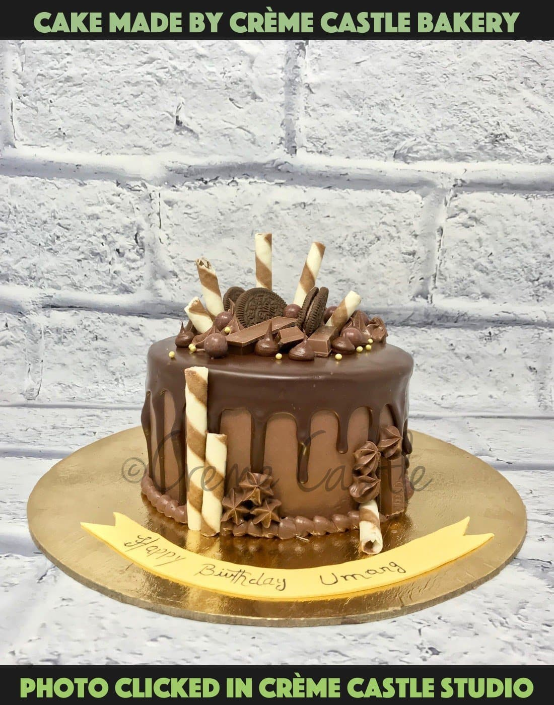 Chocolate Drip Sin Cake - cremecastle