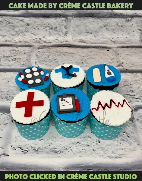 Doctor Theme Cupcakes - cremecastle