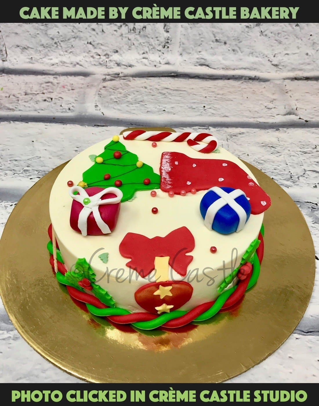 Christmas Plum Cake 2D design - cremecastle