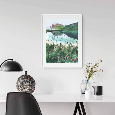 Inspiring Wall Art For Home Offices Mode Prints Watercolour Landscape Art Print