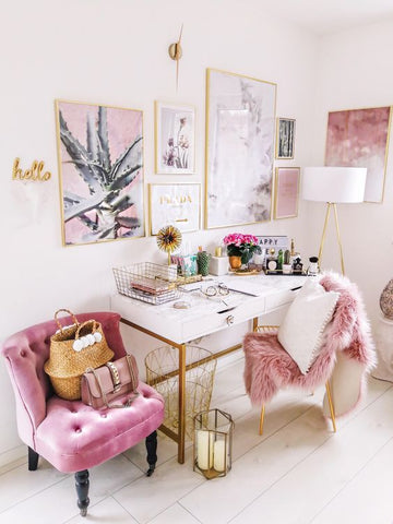 Pink Modern Home Office Spaces We Heart It