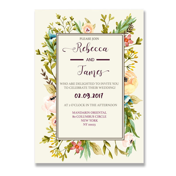 Floral Wedding Invitation - Mode Prints