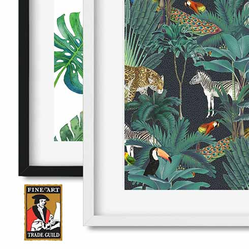Tropical Jungle Leopard Wall Art Print