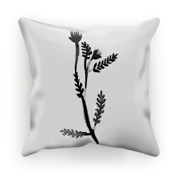 Black & White Botanical Leaf Cushion - Mode Prints