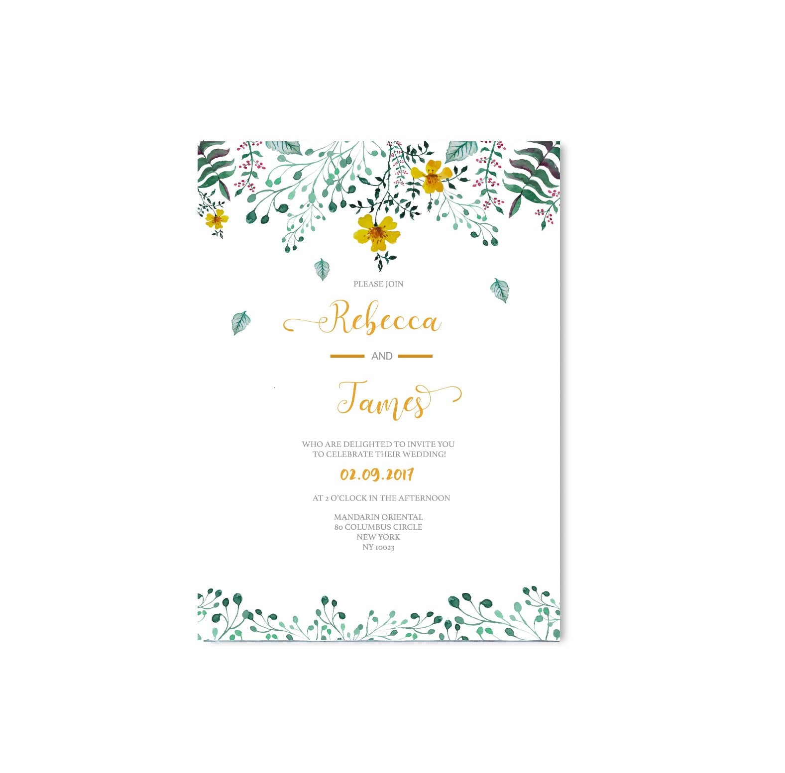 Spring Floral Wedding Invitation-Wedding Stationary-Mode Prints