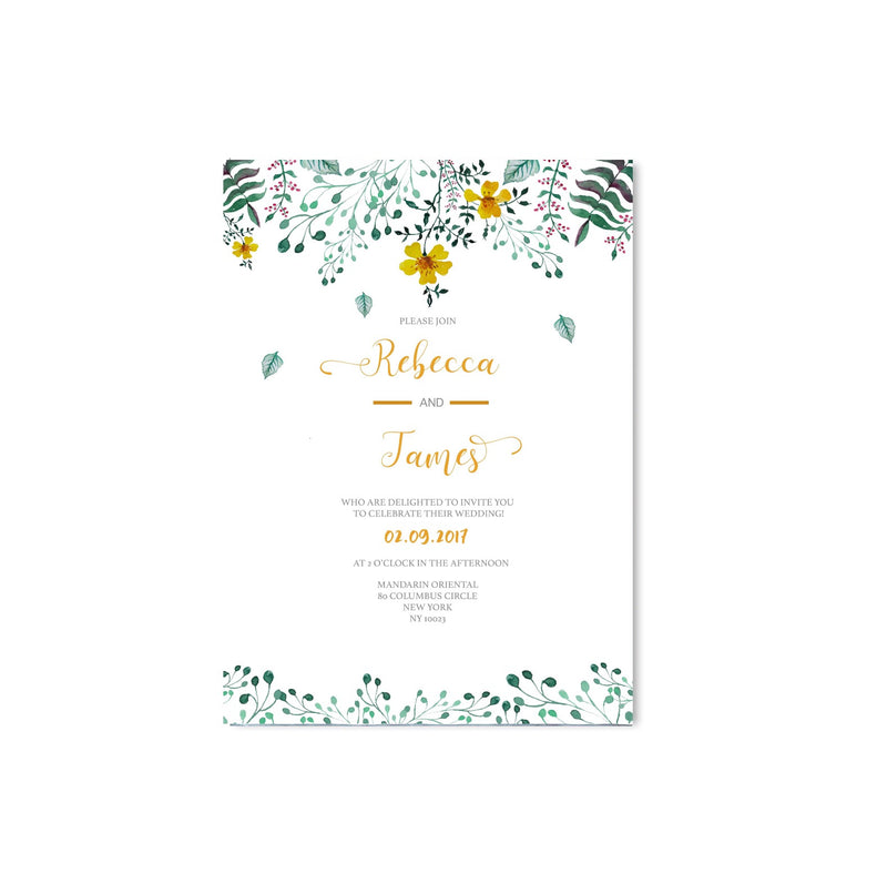 Spring Floral Wedding Invitation - Mode Prints