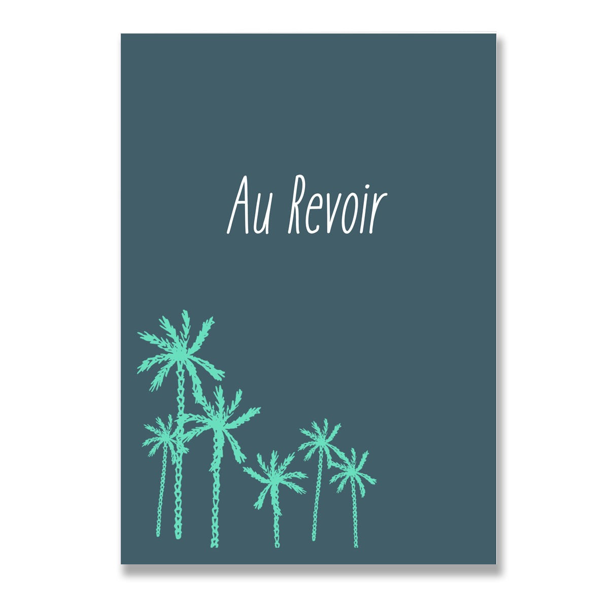 Au Revoir Travel Adventure Greeting Card-Greeting Cards-Mode Prints