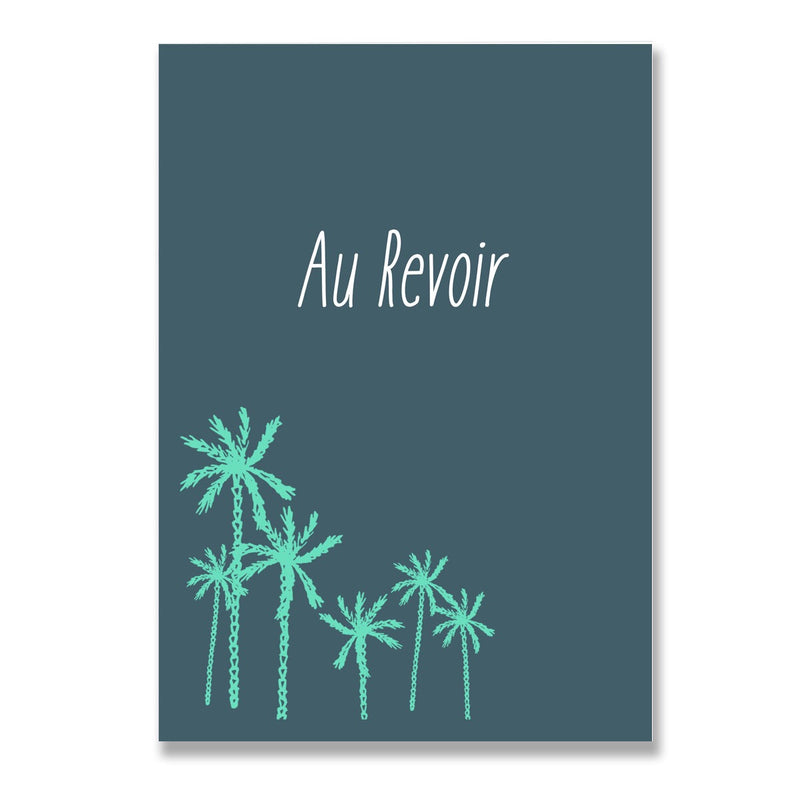 Au Revoir Travel Adventure Greeting Card - Mode Prints