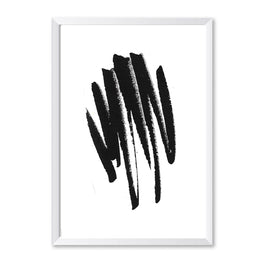 Black & White Watercolour Abstract Poster Print-Print-Mode Prints