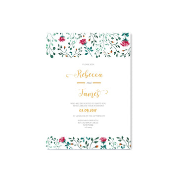 English Garden Rose Flowers Wedding Invitation-Wedding Stationary-Mode Prints