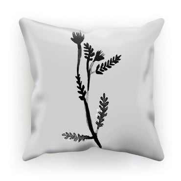 Black & White Botanical Leaf Cushion
