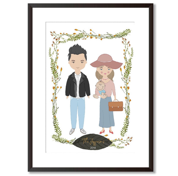 Personalised Family Portrait Print - Mode Prints