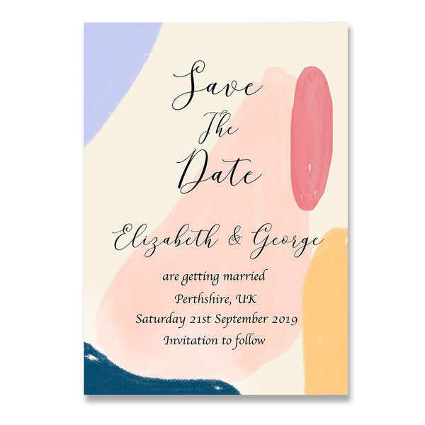Abstract 2 Save The Dates Wedding Card - Mode Prints