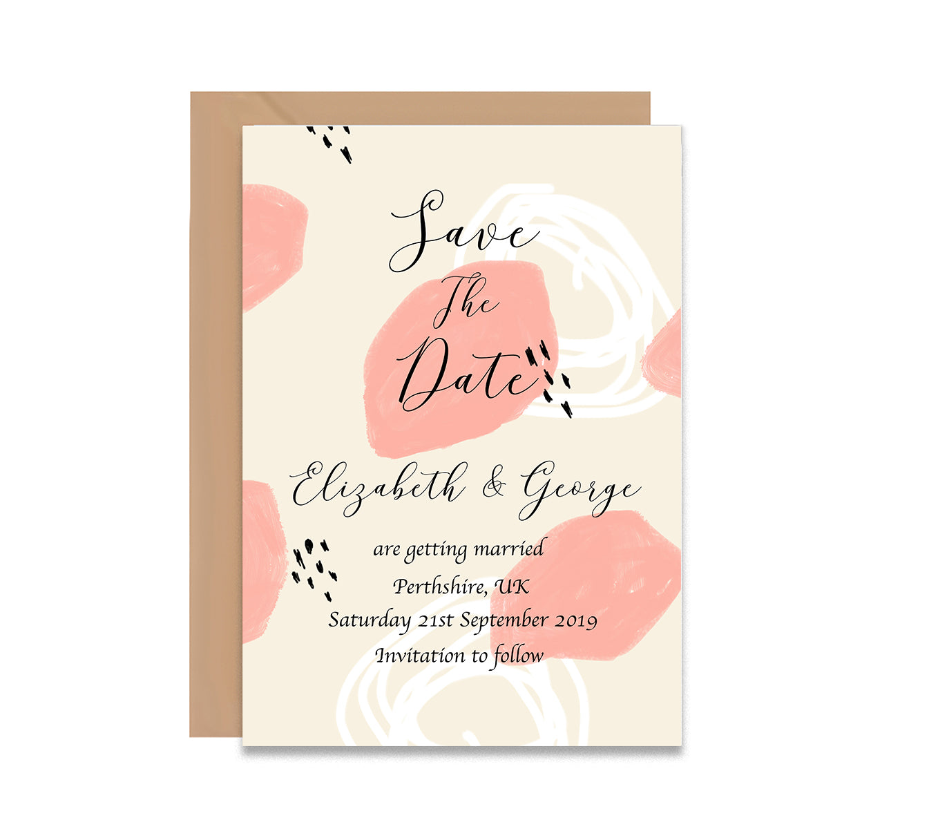 Abstract 3 Save The Dates Wedding Card-Wedding Stationary-Mode Prints
