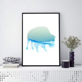 Abstract Bull Poster Print - Mode Prints