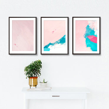 Set Of Three Abstract Textures Poster Prints