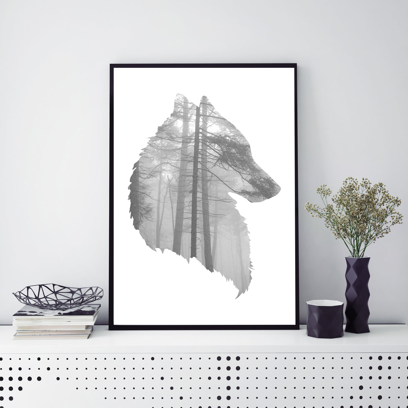 Abstract Wolf Poster Print-Print-Mode Prints