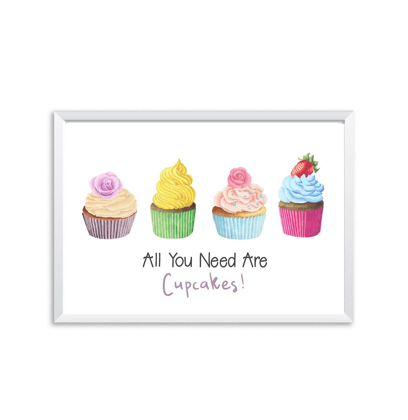 All You Need Are Cupcakes Poster Print-Print-Mode Prints