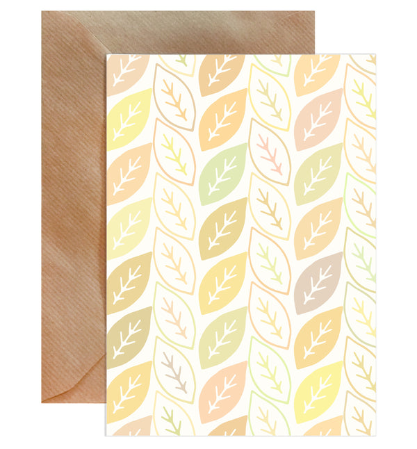 Autumn Leaves Blank Greeting Card - Mode Prints