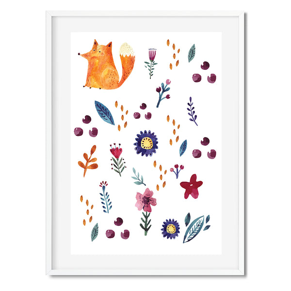 Nursery Fox Wall Art Print