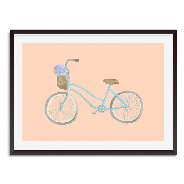 Watercolour Bicycle Vintage Pashley Aurora Wall Art Print