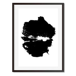Black and White Abstract Wall Art Print - Mode Prints