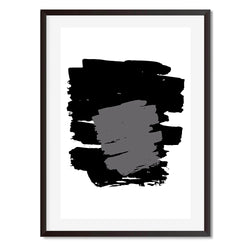 Black and White Abstract Grey Overlay Wall Art Print - Mode Prints