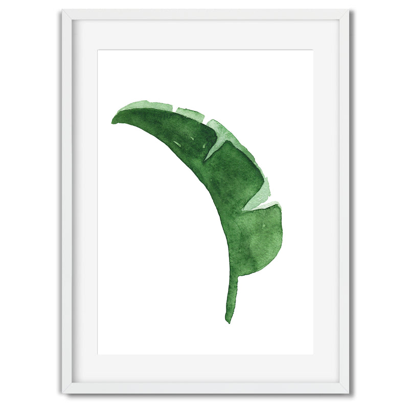 Watercolour Banana Leaf Wall Art Print - Mode Prints