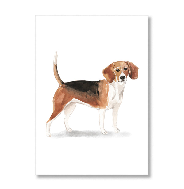 Beagle Dog Watercolour Print - Mode Prints