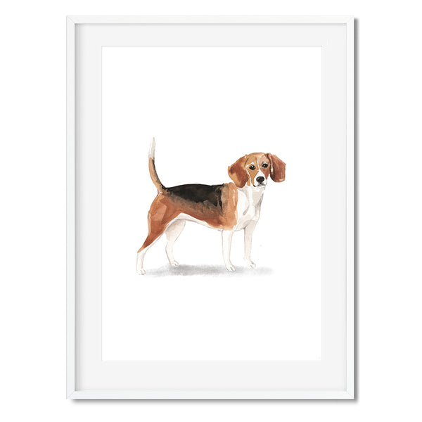 Beagle Dog Watercolour Wall Art Print - Mode Prints