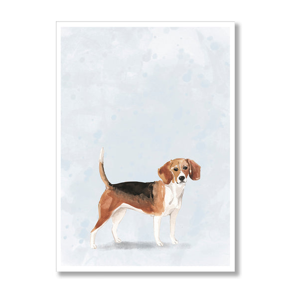Beagle Watercolour Dog Print - Mode Prints