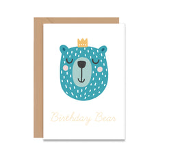 Birthday Bear Happy Birthday Greeting Card - Mode Prints