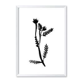 Black & White Botanical Leaf Poster Print-Print-Mode Prints