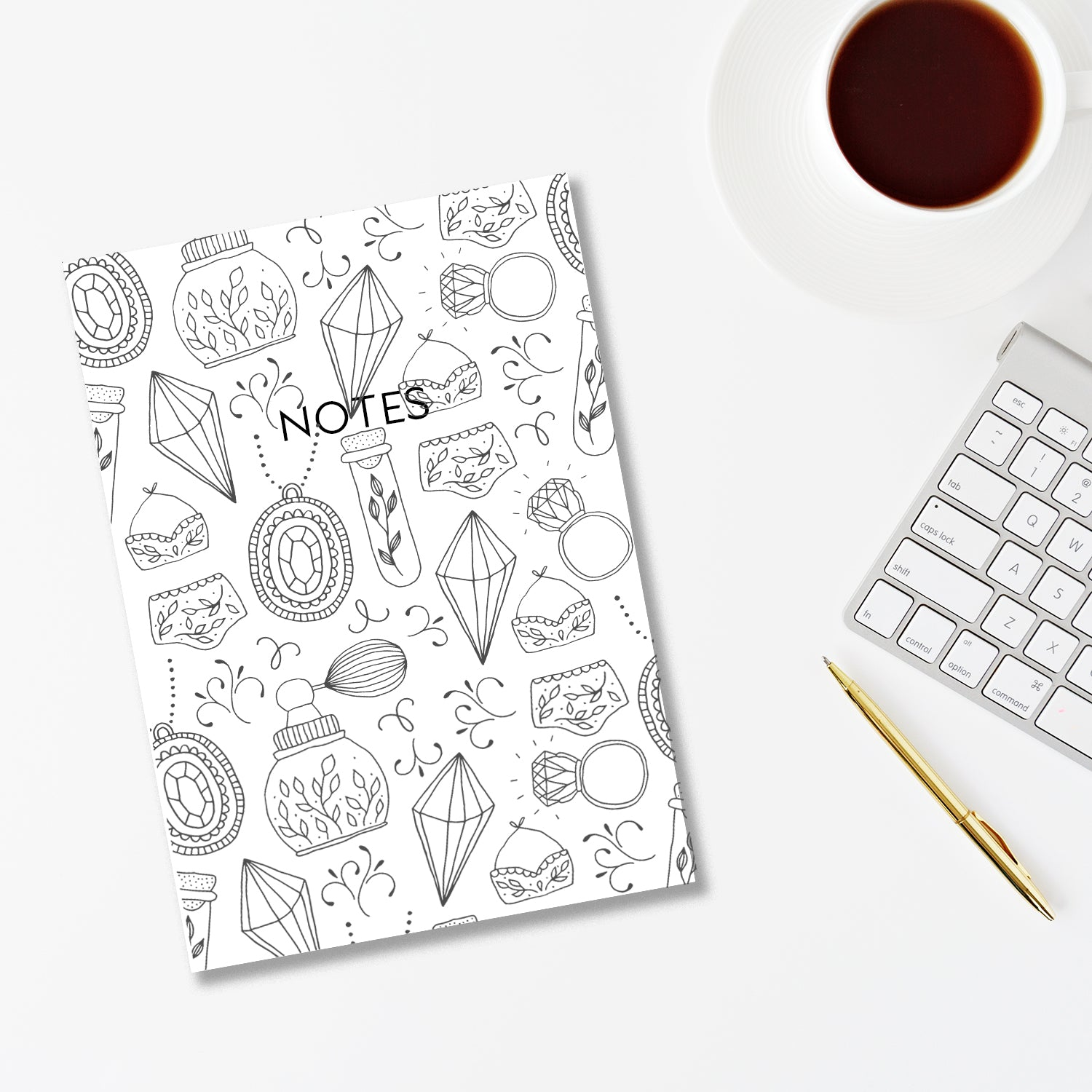 Black & White Illustrations Print Notebook-Notebook-Mode Prints