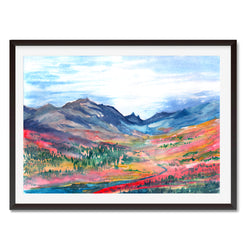 Watercolour Valley Of Dreams Landscape Wall Art Print