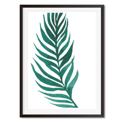 Watercolour Palm Leaf Wall Art Print